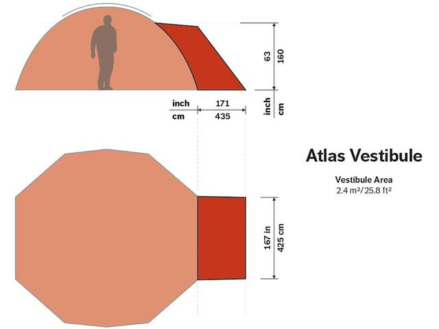 Hilleberg Atlas Vestibule röd